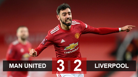 Kết quả MU 3-2 Liverpool: Rashford, Bruno tỏa sáng giúp Quỷ đỏ lội ngược dòng