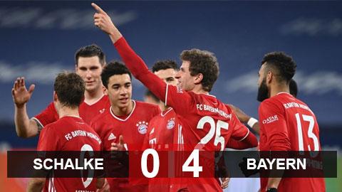 Kết quả Schalke 0-4 Bayern: Kimmich lập hat-trick kiến tạo, Hùm xám hủy diệt Schalke