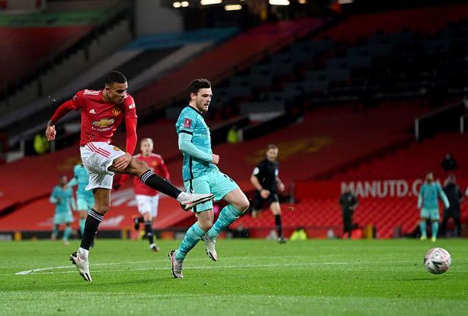 Greenwood đã có trận đấu ấn tượng trước Liverpool