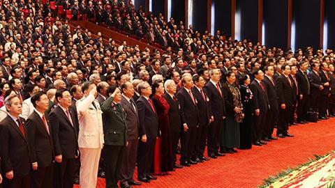 Chính thức khai mạc Đại hội đại biểu toàn quốc lần thứ XIII của Đảng