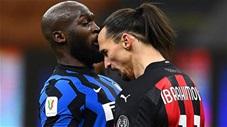 """Ibrahimovic cãi vã, """"thiết đầu công"""" với Lukaku trong trận derby Milan"""