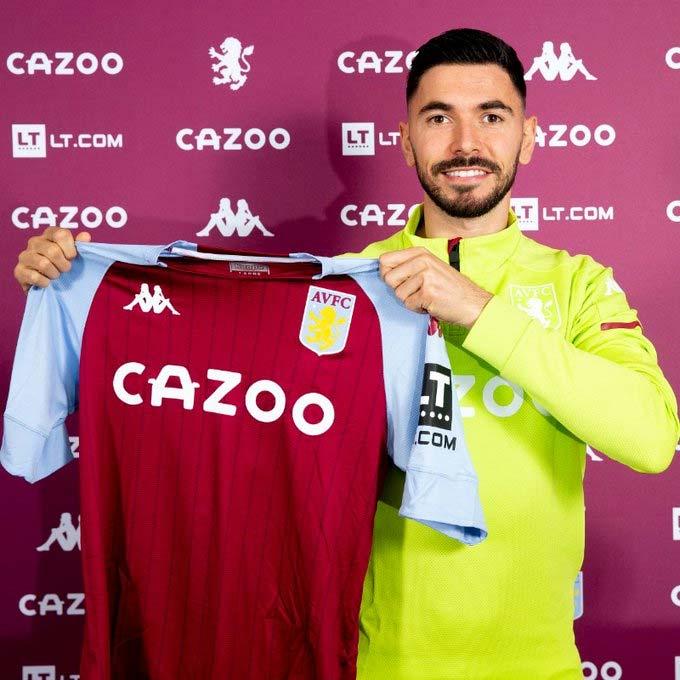 Morgan Sanson trong buổi lễ ra mắt Aston Villa