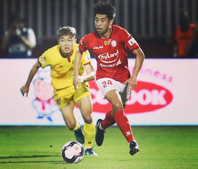 Lee Nguyễn có 73 phút chơi ở V.League 2021