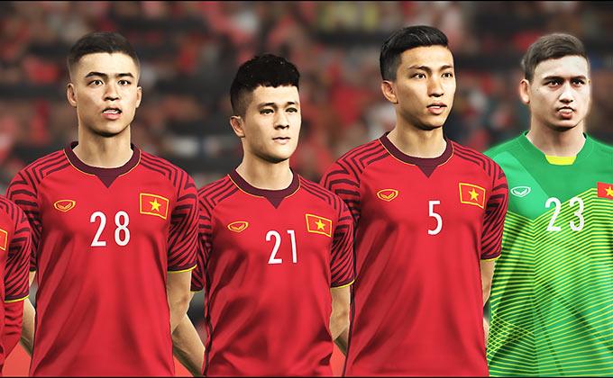 Đội tuyển Việt Nam thường chỉ xuất hiện trong các bản chỉnh sửa (mod) do fan của PES thực hiện trong quá khứ