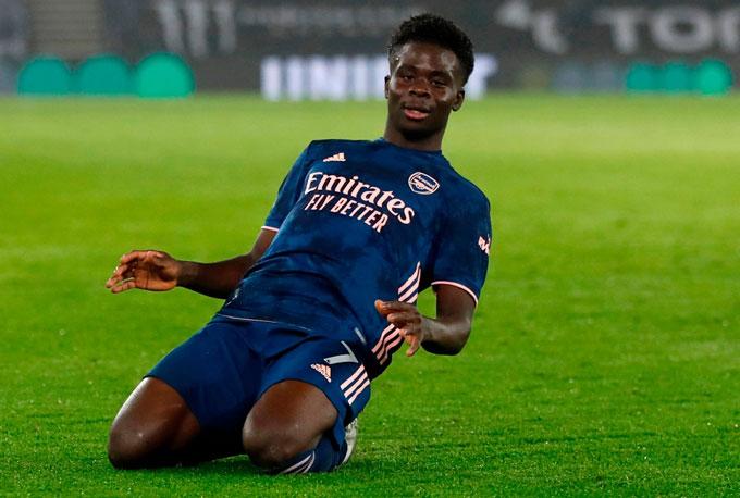 Saka ngày một trưởng thành tại Arsenal