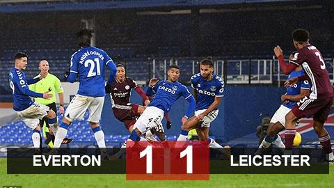 Kết quả Everton 1-1 Leicester: Everton lỡ cơ hội vào top 4 Premier League