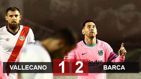 Kết quả Rayo Vallecano 1-2 Barca: Messi trở lại ấn tượng, Barca vào vòng tứ kết cúp Nhà vua Tây Ban Nha
