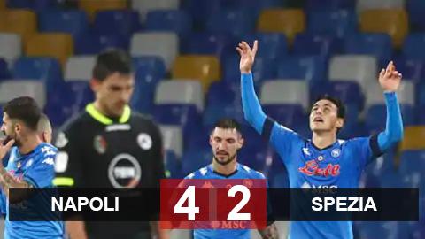 Kết quả Napoli 4-2 Spezia: Hủy diệt trong 45 phút, Napoli tiến vào bán kết gặp Atalanta