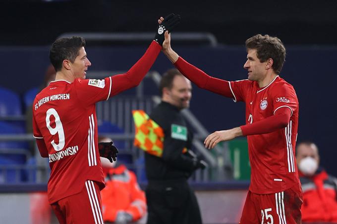 Lewandowski và Mueller cùng nhau lập công ở trận đấu Bayern vs Hoffenheim