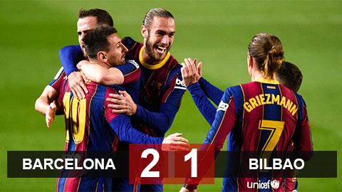 Barca 2-1 Bilbao: Gã khổng lồ xứ Catalan lên nhì bảng