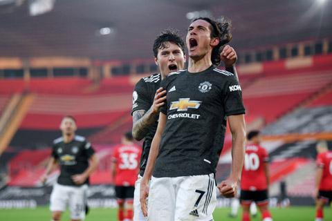 Cavani ghi 4 bàn thắng chỉ sau 618 phút thi đấu tại Premier League mùa này