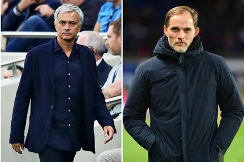 Mourinho (trái) từng gặp rất nhiều khó khăn khi đối đầu với các HLV Đức