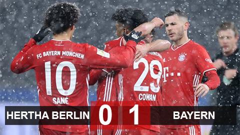Hertha Berlin 0-1 Bayern: Lewandowski đá hỏng 11m, Hùm xám thắng nhọc