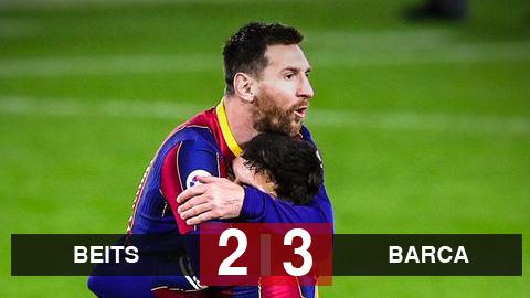 Real Betis 2-3 Barcelona: Messi từ ghế dự bị vào giúp Barca giành 3 điểm