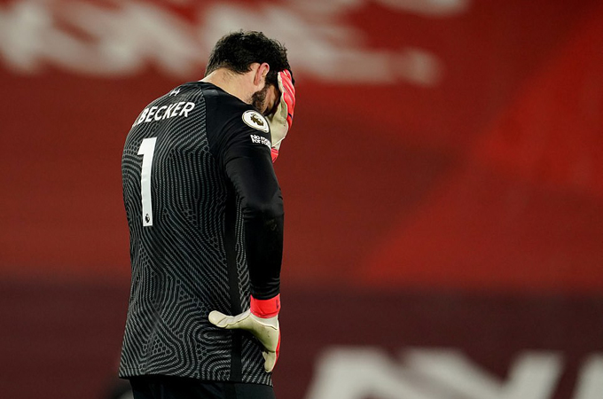 Alisson sẽ lấy lại sự tự tin sau sai lầm tai hại ở trận Liverpool thua Man City?