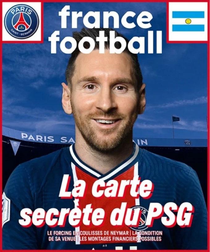 Messi xuất hiện trên trang bìa tạp chí France Football