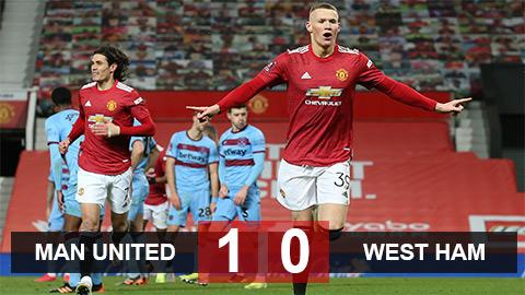 MU 1-0 West Ham: Người hùng McTominay đưa Quỷ đỏ vào tứ kết FA Cup