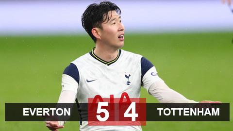 Everton 5-4 Tottenham: Gà trống thua đau trong hiệp phụ