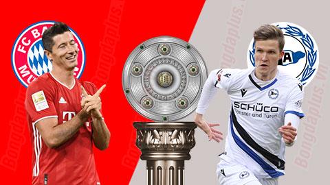 Bayern 3-3 Bielefeld: Chết hụt ở hang hùm