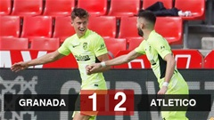 Granada 1-2 Atletico Madrid: Đội khách tạo khoảng cách 8 điểm với Real