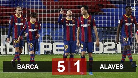 Barca 5-1 Alaves: Messi thăng hoa, Barca vùi dập Alaves