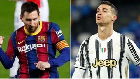 Messi lại khiến Ronaldo thêm phần khó chịu vì 2 cột mốc mới