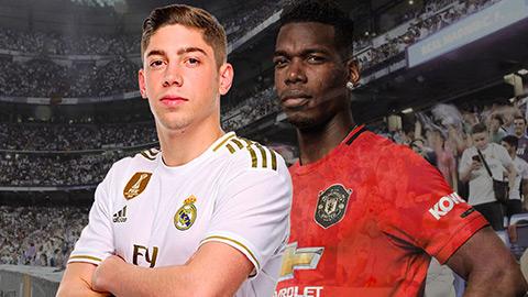 MU và Real có thể đổi Pogba lấy Valverde