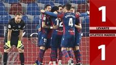 Levante vs Atletico Madrid: 1-1 (Đá bù vòng 2 La Liga 2020/21)