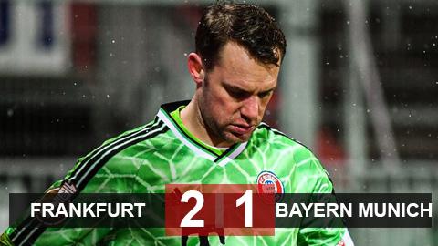 Frankfurt 2-1 Bayern: Lewandowski không cứu nổi Hùm xám