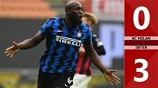 AC Milan vs Inter: 0-3 (Vòng 23 Serie A 2020/21)