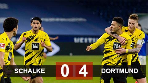 Schalke 0-4 Dortmund: Sancho đi vào lịch sử Bundesliga