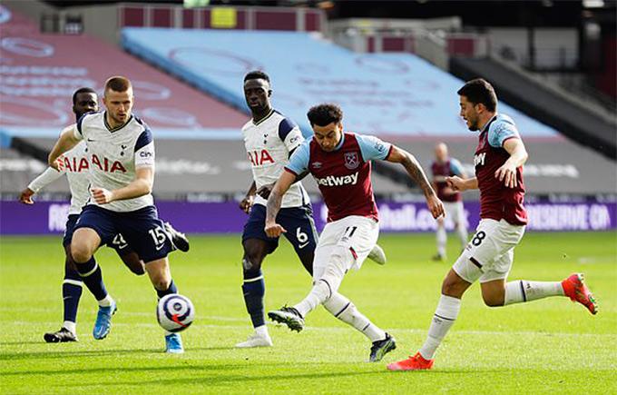 Bàn thắng thứ 2 trong trận West Ham vs Tottenham