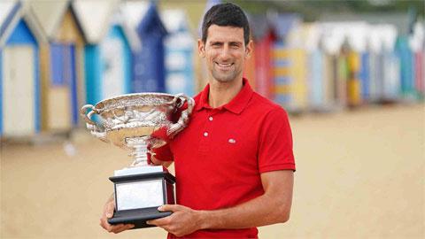 Djokovic nới rộng cách biệt với Nadal, Federer về số danh hiệu lớn