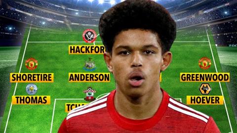 Đội hình những cầu thủ trẻ nhất Ngoại hạng Anh 2020/21: MU và Southampton 'mát tay' nhất