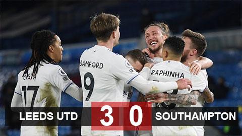 Kết quả Leeds United 3-0 Southampton: Hiệp hai thăng hoa