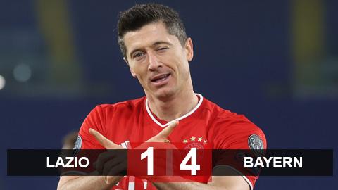 Lazio 1-4 Bayern: ĐKVĐ thể hiện sức mạnh bá đạo
