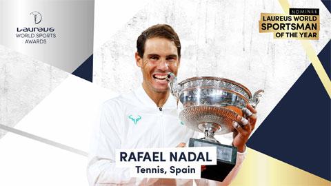 "Nadal cạnh tranh ""Oscar thể thao"" với Lewis Hamilton, Roberto Lewandowski"