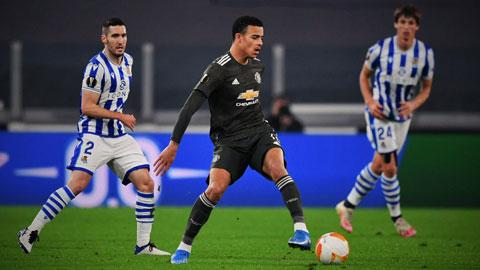 Dù không tung ra đội hình mạnh nhất, chủ nhà M.U (giữa) vẫn sẽ vượt qua Sociedad ở lần tái đấu
