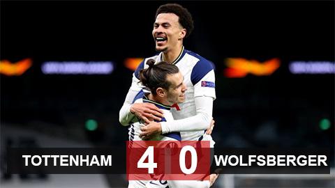 Tottenham 4-0 Wolfsberger: Bale và Alli đưa Spurs vào vòng 1/8