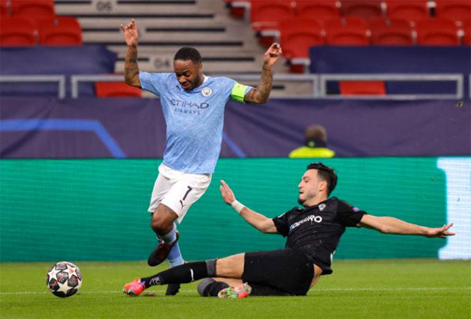 Sterling mờ nhạt trong ngày Man City thể hiện sức mạnh vượt trội trước M'Gladbach