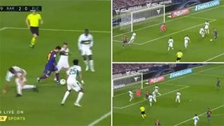 5 cầu thủ Elche không ngăn nổi Messi 'nhảy múa' và ghi bàn