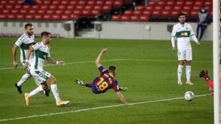 Barca lập kỷ lục 36-0 trước Elche