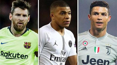 Top 10 cầu thủ giá trị nhất thế giới: Mbappe số 1, Ronaldo & Messi mất dạng