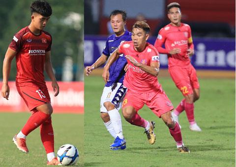 Danh Trung (trái) và Văn Triền sẽ tích lũy được kinh nghiệm trận mạc khi sang Nhật Bản thi đấu  Ảnh: ĐỨC CƯỜNG