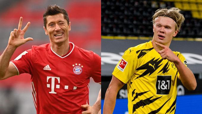 Bayern xem Haaland là sự thay thế tuyệt vời cho Lewandowski