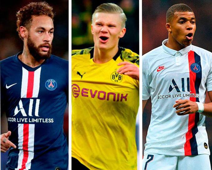 Haaland có thể hợp cùng Neymar và Mbappe thành tam tấu đáng sợ nhất thế giới