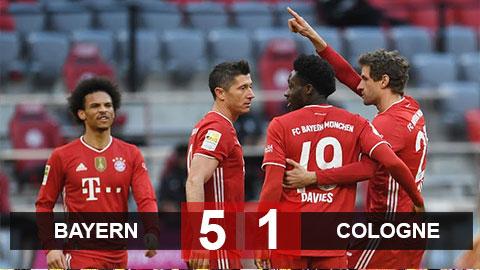 Kết quả Bayern 5-1 Colognne: Hùm xám cắt mạch không thắng ở Bundesliga trong sinh nhật đáng nhớ