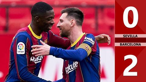 Sevilla vs Barcelona: 0-2 (Vòng 25 La Liga 2020/21)