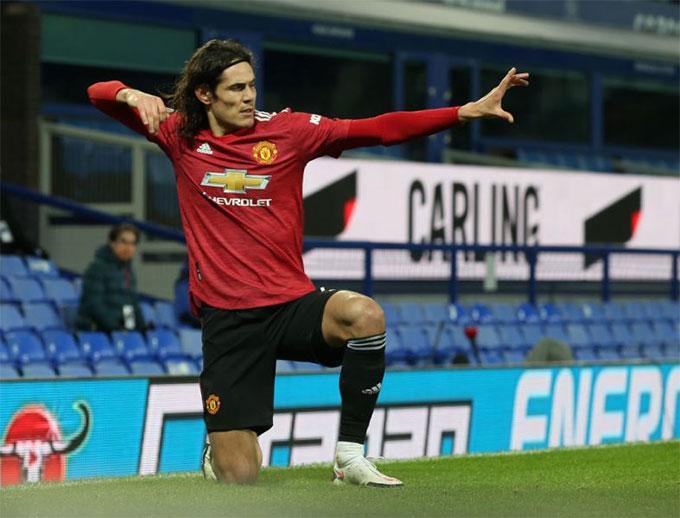 Cavani đã ghi 6 bàn ở giải Ngoại hạng Anh mùa này