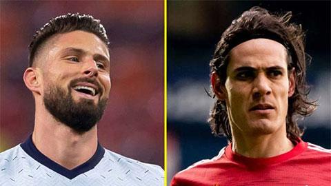 Giroud vs Cavani: 2 ''củ gừng già'' tăng gia vị đậm đà cho đại chiến Chelsea vs MU
